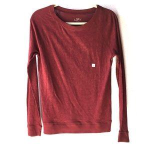 NWT- Loft baseball style maroon shirt